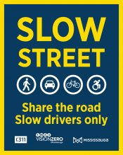 Slow street - Share the road, slow drivers only