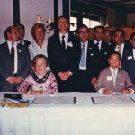 Group of Mississauga and Kariya representatives signing partnership in 1981