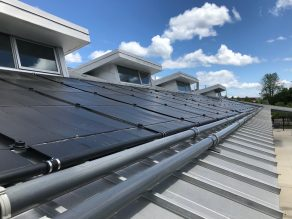 Solar panels are one example of how green development standards can help reduce greenhouse gas emissions