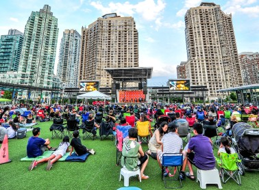 A photo of the Star Wars Movie Night at Celebration Square.