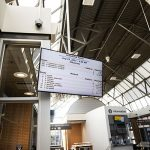 City Centre Transit Terminal fare digital screen