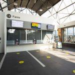 City Centre Transit Terminal fare booth