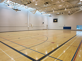 Interior of an empty gym