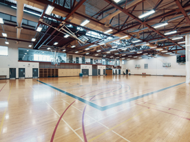 Interior of empty gym