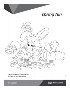 Rabbit painting Easter eggs