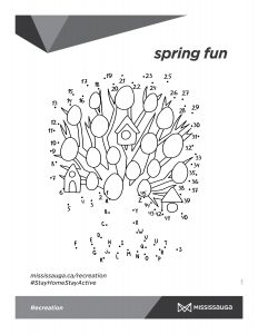 Connect the dots Easter egg tree