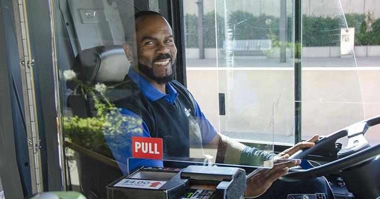 smiling transit operator