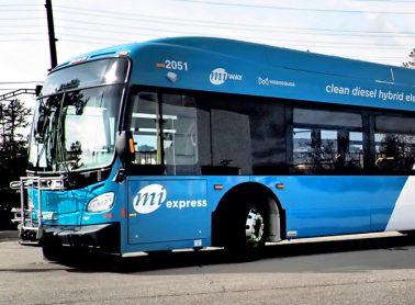 Blue MiWay Express Bus