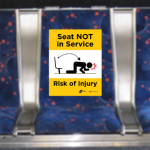 signs showing seat not in service
