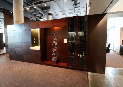 Restaurant divider cabinet and decor
